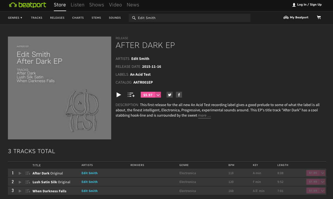 after dark ep beatport ss